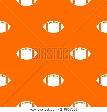 Rugby ball pattern repeat seamless in orange color for any design. Vector geometric illustration