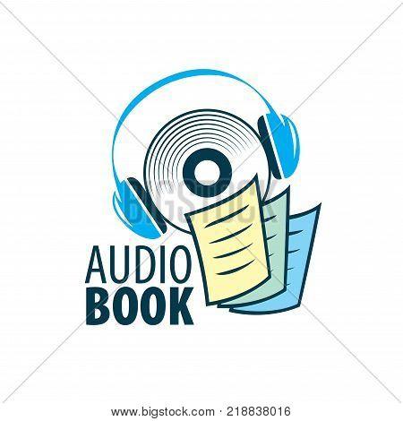 Abstract pattern audiobooks logo. Illustration vector icon