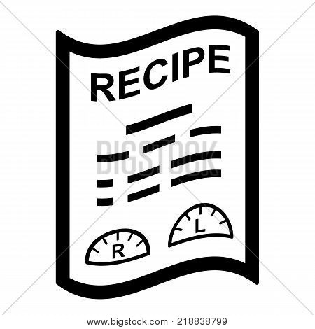 Medical recipe icon. Simple illustration of medical recipe vector icon for web