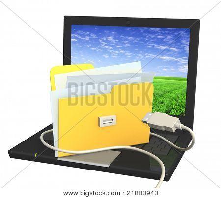 Conceptual image - new technologys. 3d render