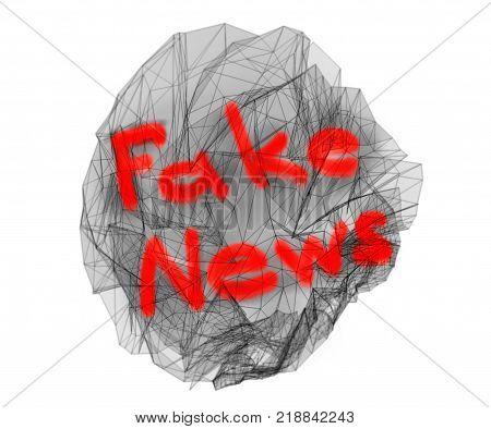 Fake News 3d Illustration On White Background