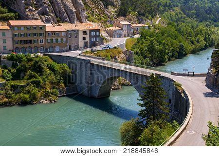 Sisteron Charming Medieval Town In The Province Alpes-de-haute-provence