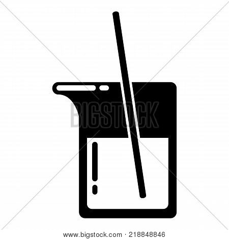 Science flask icon. Simple illustration of science flask vector icon for web