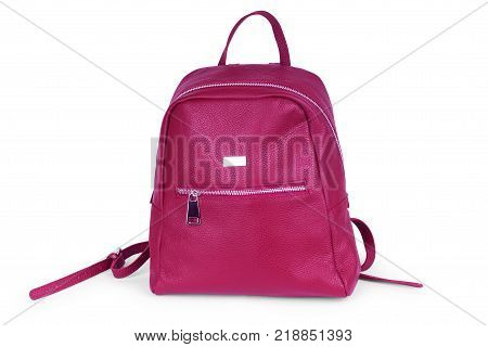 Pink backpack isolated on white background Large, Objects, Object, Design, Bag, Single, Equipment,