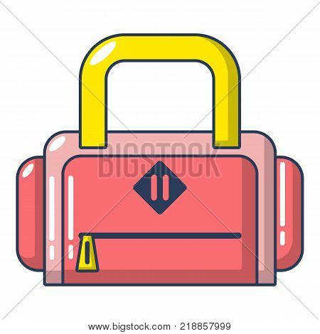 Travel bag handle icon. Cartoon illustration of travel bag handle vector icon for web