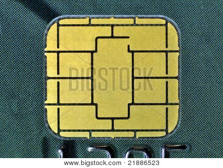 Makro-Visitenkarte-chip