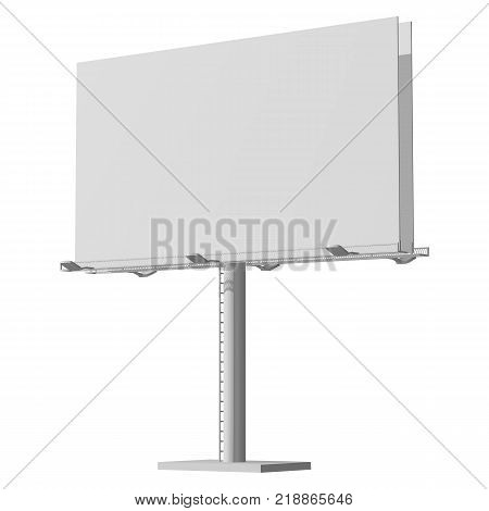 Advertising construction for outdoor advertising big billboard. Billboard for your design.