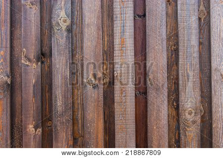 Backdrop of natural brown boards. Excellent wooden background.