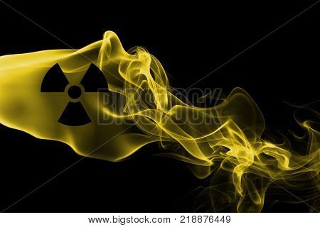 Nuclear smoke isolated on a black background
