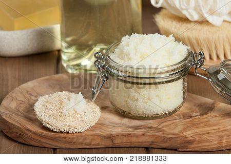 Handmade Lemon Scrub With Coconut Oil. Toiletries, Spa Set