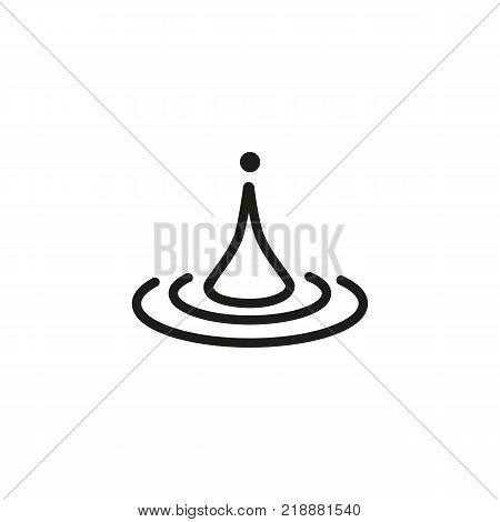 Line icon of water drop. Splash, puddle, oil. Water concept. Can be used for topics like nature, environment, weather