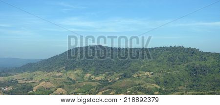 Landscape Of Khao Kho District Petchabun Province Thailand