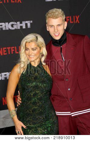 Bebe Rexha and Machine Gun Kelly attend the Netflix
