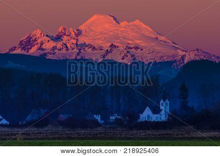 Sunset On Skagit Valley