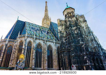 St. Stephen's Cathedral Stephansdom Domkirche St. Stephan mother church of Roman Catholic Archdiocese of Vienna Stephansplatz Vienna Wien Austria