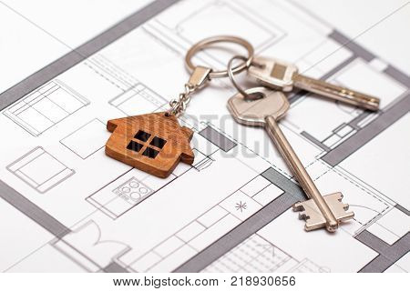 Concept of home ownership. Real estate and property