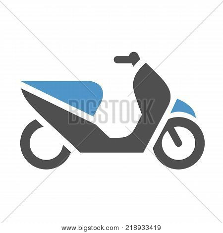 Scooter - gray blue icon isolated on white background