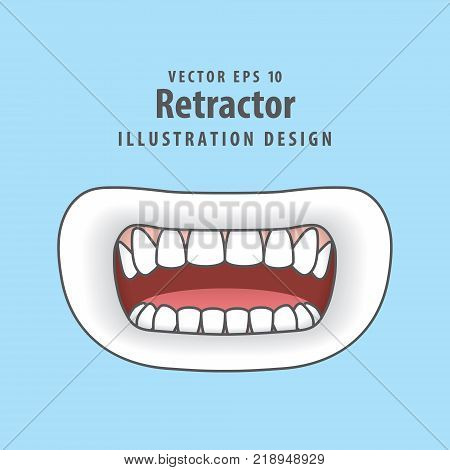 Step Of Tooth Cavity Filling Illustration Vector On Blue Background. Dental Concept.