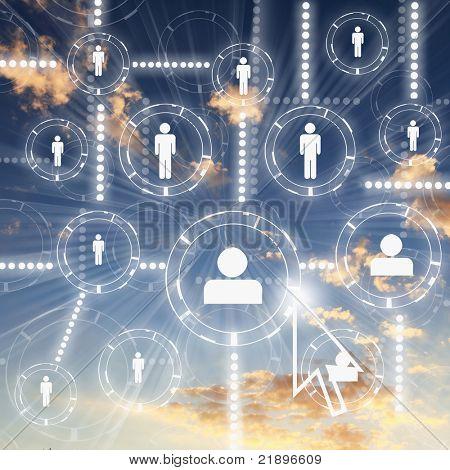 人类数字作为象征的社会网络