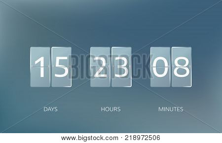 Announce countdown design. Count days hours and minutes. Vector illustration