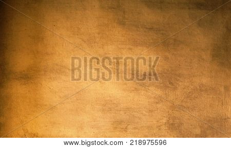 Gold Abstract background with texture and shadows old vintage golden wall
