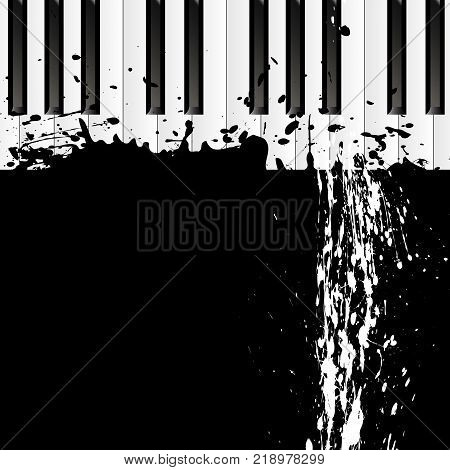 Smudges on the piano, vector art illustration.
