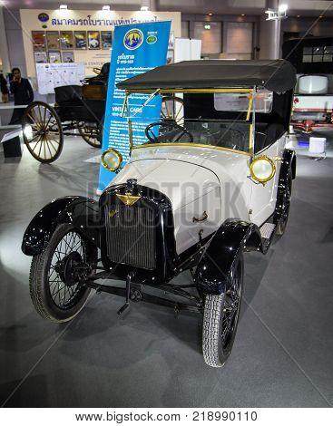 Bangkok Thailand - December 11 2017: Vintage Austin Seven car exhibited in Motor Expo Show 2017