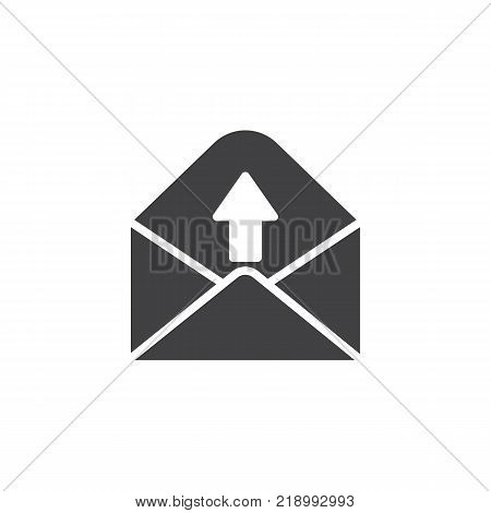 Outgoing message icon vector, filled flat sign, solid pictogram isolated on white. Send e-mail symbol, logo illustration.