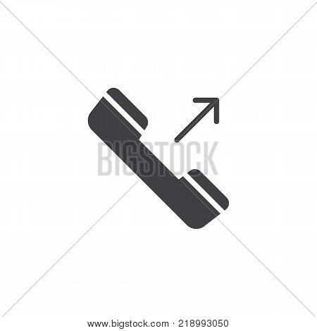 Outgoing phone call icon vector, filled flat sign, solid pictogram isolated on white. Symbol, logo illustration.