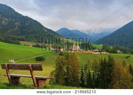 Santa Maddalena in the Dolomites in ItalyEurope