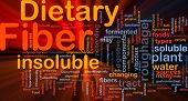 Background concept wordcloud illustration of dietary fiber glowing light poster