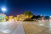 View of Habima square at night in Tel Aviv, Israel. poster