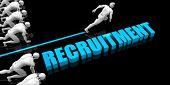 Superior Recruitment Concept with Competitive Advantage 3D Render poster