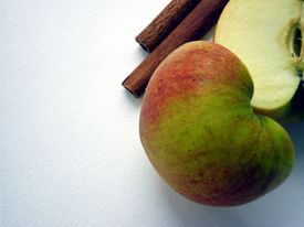 Apple with cinnamon