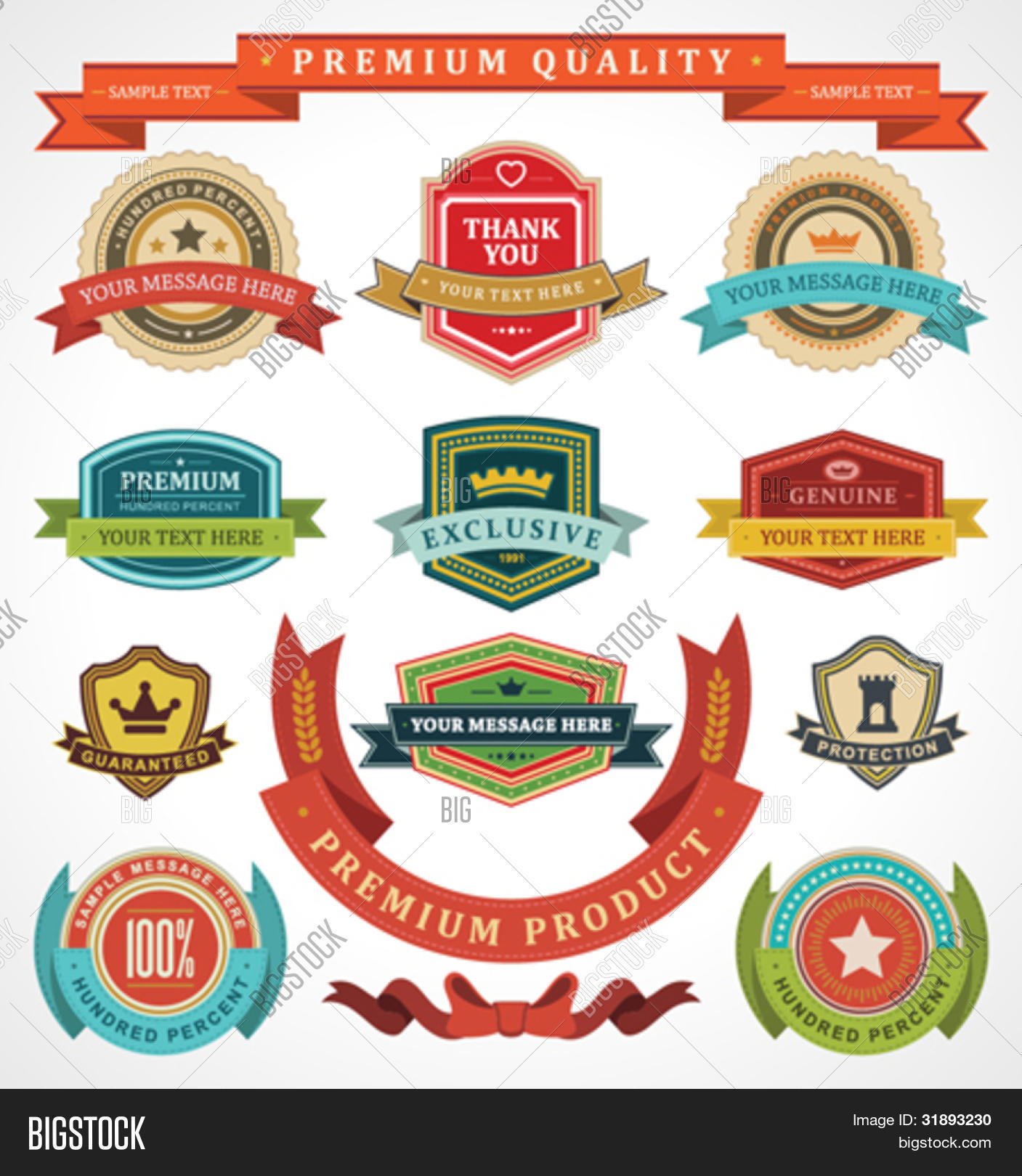 Vintage Labels Ribbon Vector Photo Free Trial Bigstock