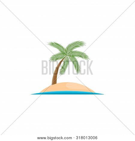 Island Vector Logo Isolated On White Background From Miscellaneous Collection. Island Icon Trendy An