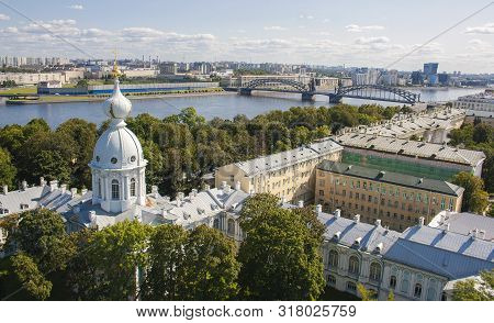 View From The Orthodox Smolny Cathedral. St. Petersburg. Russia