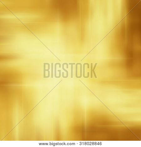 Abstract Golden Background Luxury Christmas Holiday, Wedding Background Brown Frame Bright Spotlight
