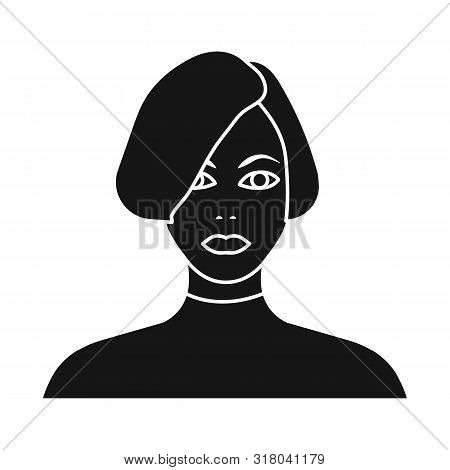 Vector Design Of Girl And Hairdo Logo. Collection Of Girl And Woman Vector Icon For Stock.