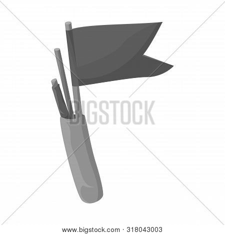 Isolated Object Of Flag And Pennant Sign. Collection Of Flag And Naval Vector Icon For Stock.