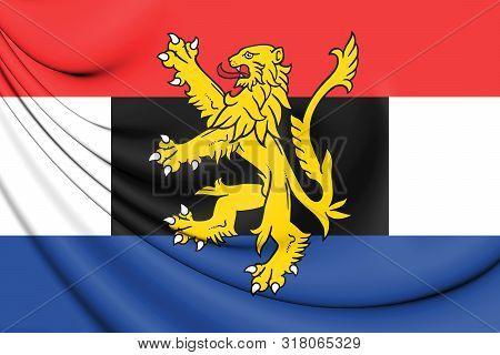 3d Flag Of The Benelux. 3d Illustration.