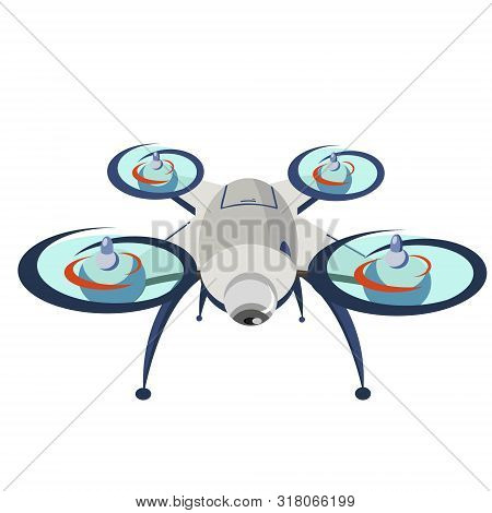 Drone. Modern Technology. Copter With Goods Flying In The Air. Quadcopter-courier, Multicopter. Mode
