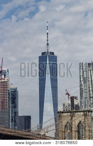 New York - Circa August 2019: One World Trade Center, Also Known As The Freedom Tower. One World Tra