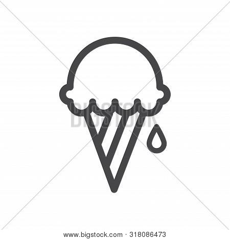 Ice Cream Icon Isolated On White Background. Ice Cream Icon In Trendy Design Style For Web Site And