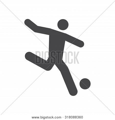 Football Player Icon Isolated On White Background. Football Player Icon In Trendy Design Style For W