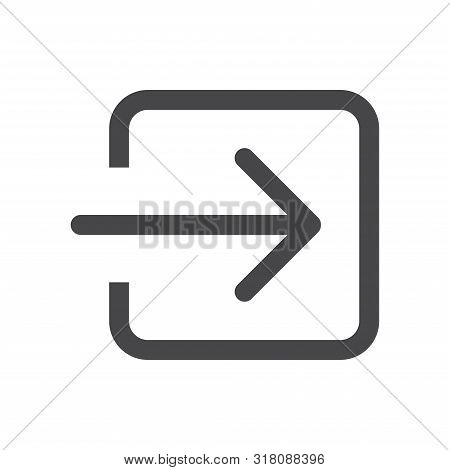 Login Square Arrow Icon Isolated On White Background. Login Square Arrow Icon In Trendy Design Style