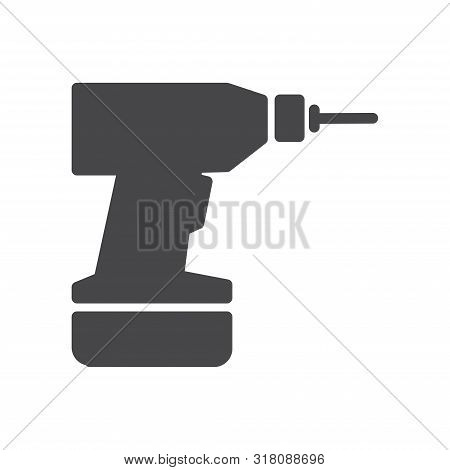 Drill Icon Isolated On White Background. Drill Icon In Trendy Design Style For Web Site And Mobile A