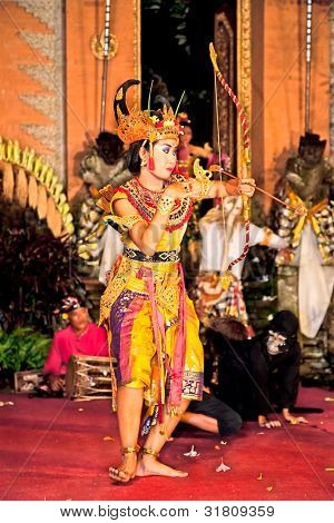 BALI - JANUARY 24:  Ramayana dance by the Bina Remaja Troupe . Ubud is the home of traditional culture in Bali. January 24, 2012 in Bali, Indonesia.