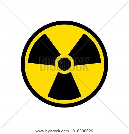 Radioactive Icon Nuclear Symbol. Uranium Reactor Radiation Hazard. Radioactive Toxic Danger Sign Des