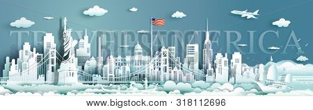 Tour Landmarks United States Of America Famous Monument Architecture Skyline, Travel Landmark To Gol